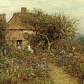 A Cottage near Brook Witley Surrey Poster by Helen Allingham