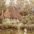 A Cottage near Haslemere Poster by Helen Allingham