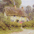 A Country Cottage Print by Helen Allingham
