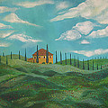 A Day In Tuscany Print by John Keaton