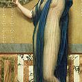 A Fair Reflection Poster by John William Godward