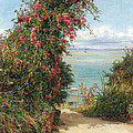 A Garden by the Sea  Poster by Frank Topham