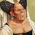 A Grotesque Old Woman Print by Quentin Massys