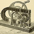 A Hand Cranked Device Onsisting Print by Everett