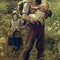 A Heavy Burden Poster by Arthur Hacker