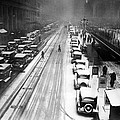 A Heavy Snowfall, 42nd Street, Looking Poster by Everett
