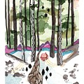 A House By A Stream In The Middle Of A Forest Print by Brooke Weeber