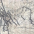 A Map Of Lewis And Clarks Track Print by Everett