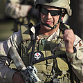 A Military Reserve Navy Seal Gives Poster by Michael Wood