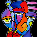 A Moment - Original Abstract Art Poster by Tom Fedro - Fidostudio