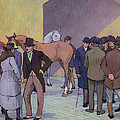 A Morning at Tattersall's Poster by Robert Polhill Bevan