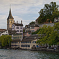 A Panorama View Of Zurich Print by Greg Dale