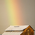 A Rainbow Arches From The Sky Onto Poster by Michael S. Lewis