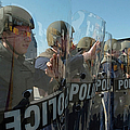 A Riot Control Team Braces Poster by Stocktrek Images