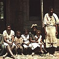 A Rural African American Family Seated Print by Everett