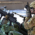 A Soldier Keeps A Close Watch Print by Stocktrek Images