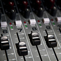 A Sound Mixing Board, Close-up, Full Frame Poster by Tobias Titz