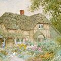 A Surrey Cottage Poster by Arthur Claude Strachan