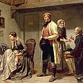 A toast to the engaged couple Poster by Carl Wilhelm Huebner