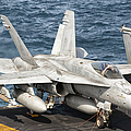 A Us Navy Fa-18c Hornet Tied Poster by Giovanni Colla