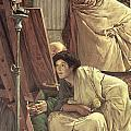 A Visit to the Studio Print by Sir Lawrence Alma-Tadema