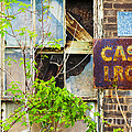Abandoned Factory with Rusted Metal Sign Print by Gordon Wood