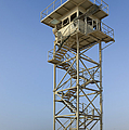 Abandoned Watchtower in the Desert Print by Noam Armonn