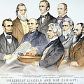 ABRAHAM LINCOLNS CABINET Print by Granger