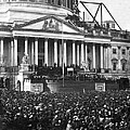 Abraham Lincolns first inauguration - March 4 1861 Print by International  Images