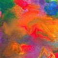 Abstract - Crayon - Melody Print by Mike Savad