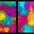 Abstract - Ripples Diptych Print by Steve Ohlsen
