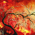 Abstract Art Floral Tree Landscape Painting FRESH BLOSSOMS by MADART Poster by Megan Duncanson