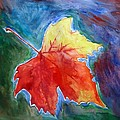 Abstract Autumn Print by Shakhenabat Kasana
