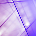 Abstract Intersecting Lines On A Glass Surface Poster by Ralf Hiemisch