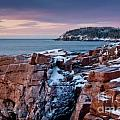 Acadian Cliffs Winter Sunrise 1 Poster by Susan Cole Kelly