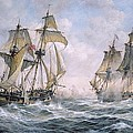 Action Between U.S. Sloop-of-War 'Wasp' and H.M. Brig-of-War 'Frolic' Print by Richard Willis