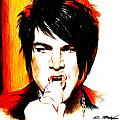 Adam Lambert Print by Lin Petershagen