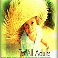 Adults Only Print by Fania Simon