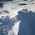 Aerial View Of Glaciated Mount Douglas Print by Richard Roscoe