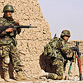 Afghan Soldiers Conduct A Dismounted Print by Stocktrek Images