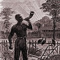 African American Blowing The Wake-up Print by Everett