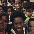 African American Children On The Street Print by Everett