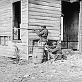 African American Soldiers Aim Print by Everett