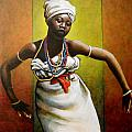 Agbadza Dancer Poster by Carla Nickerson