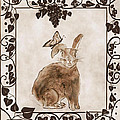 Aged Bunny Print by Eva Thomas