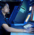 Air Traffic Controller Monitors Marine Poster by Stocktrek Images