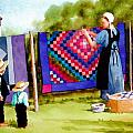 Airing the Quilts Poster by Dale Ziegler