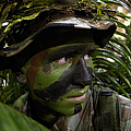 Airman Conceals Himself By Blending Poster by Stocktrek Images