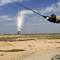 Airmen Conduct A Controlled Detonation Print by Stocktrek Images
