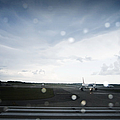 Airplane on Runway Poster by Shannon Fagan